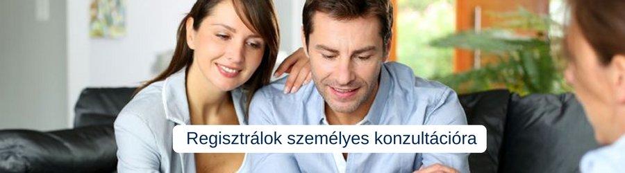 Házaspár személyes pénzügyi konzultáción vesz részt